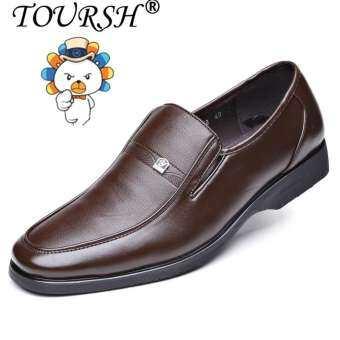 TOURSH รองเท้าหนังผู้ชาย แฟชั่นทันสมัย สวมใส่สบาย หนังแท้คุณภาพดี