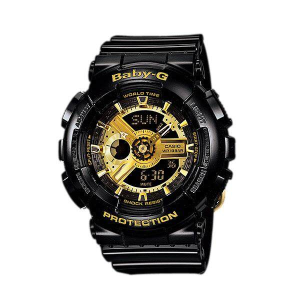 Casio นาฬิกา CASIO Baby-G BA-110-1ADR black gold series (ประกัน cmg)