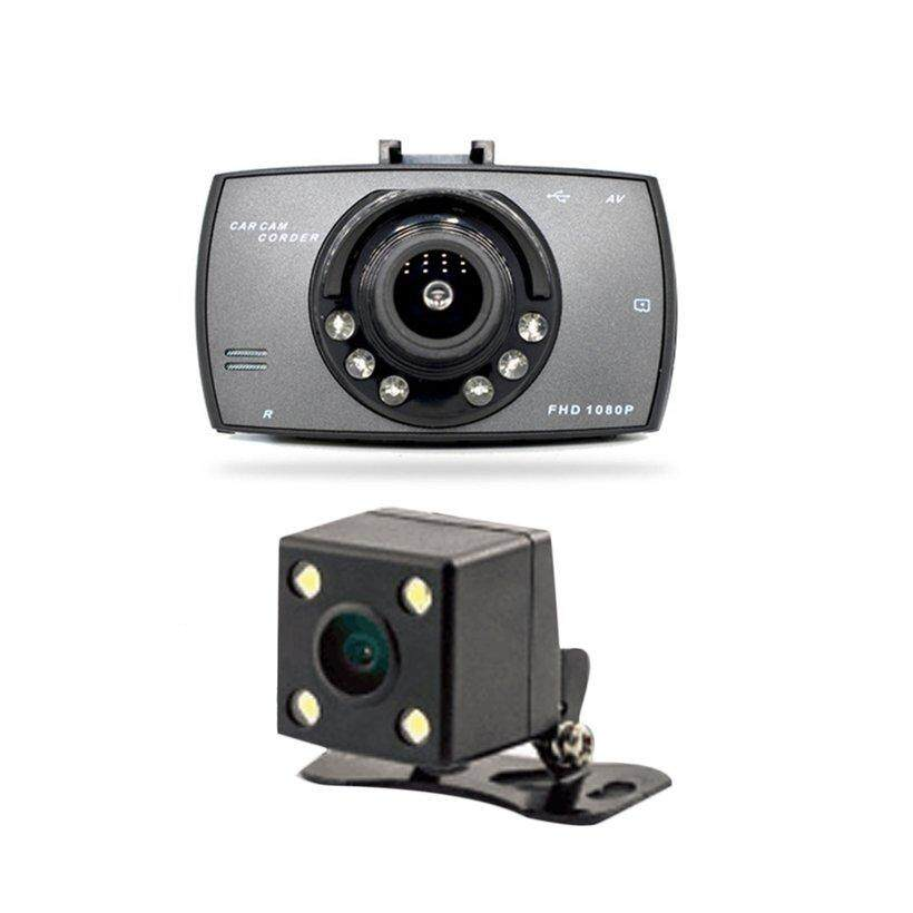 BELLE 2.7 inch 6 Lights Night Vision Dual Lens Car DVR Camera HD 1080P Wide Angle