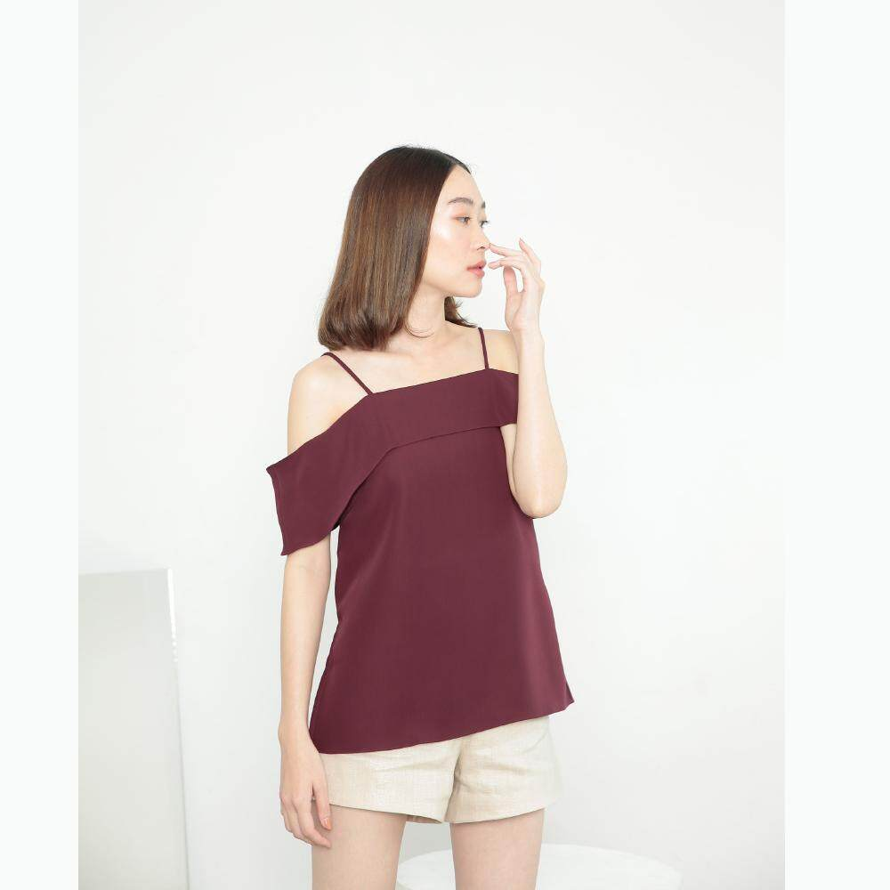 Kanni Studio - JELLY TOP in red wine color