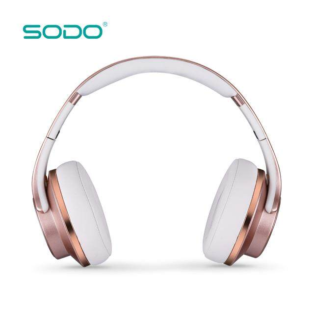 ที่ไหนขายถูก ๆ SODO MH5(2018) : Bluetooth Headphone And Speaker With NFC(ROSE GOLD) หูฟังและลำโพงบลูทูธ เสียงดี ดีไซด์หรู ฟังก์ชั่นครบ รุ่นใหม่ 2019