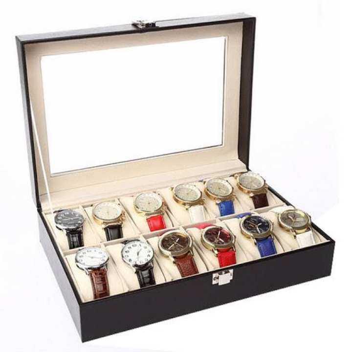 รีวิว buybuytech Cassablu กล่องเก็บนาฬิกาข้อมือ 12 เรือน ฝากระจก บุหนัง ด้านในบุกำมะหยี่ กล่องใส่นาฬิกา กล่องใส่เครื่องประดับ watch box