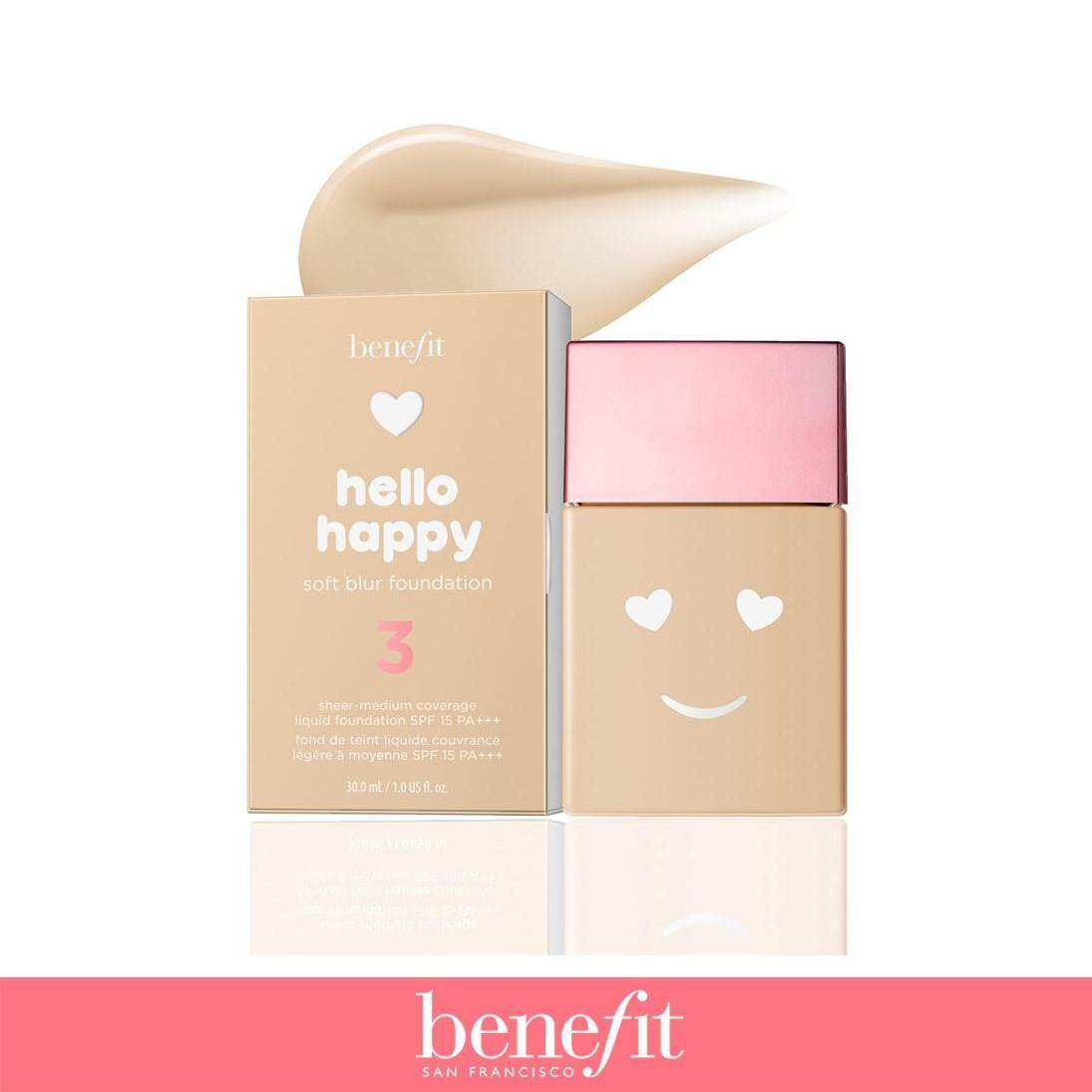 Benefit รองพื้น Hello Happy Soft Blur Foundation no.3