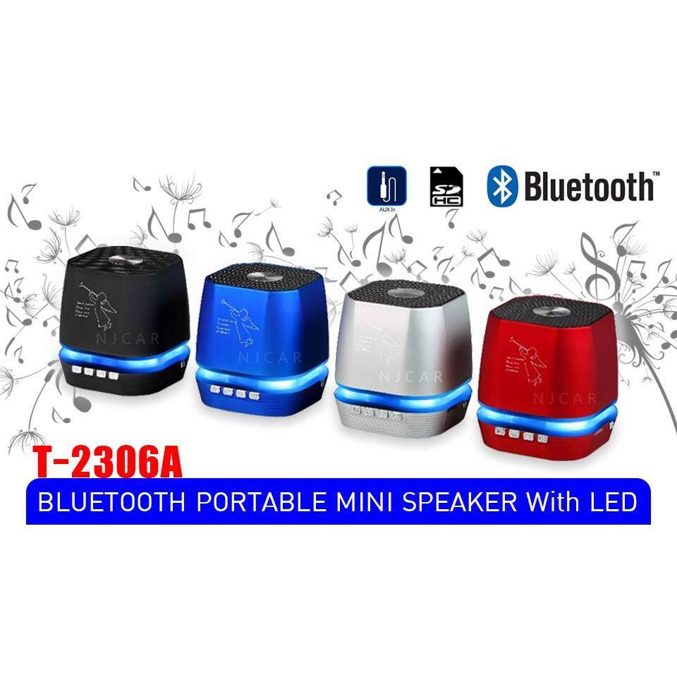 ขายดีที่สุด ลำโพงแบบพกพา Bluetooth Speakers Charge 2+ TMALL T-2306A BLUETOOTH PORTABLE MINI SPEAKER With LED ลำโพงบลูทูธพกพามีไฟ LED เคลมสินค้าได้
