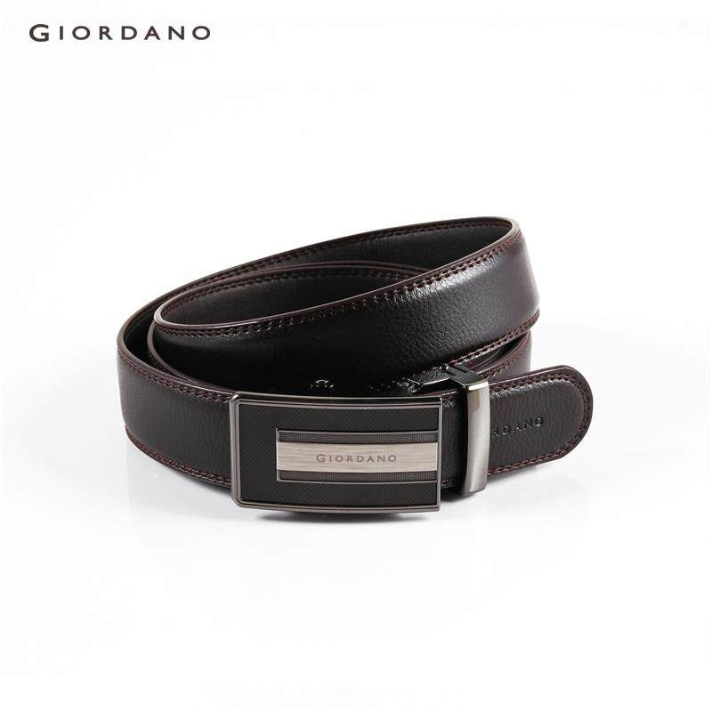 Giordano Men Plain automatic buckle belt [Free Shipping] 79132522