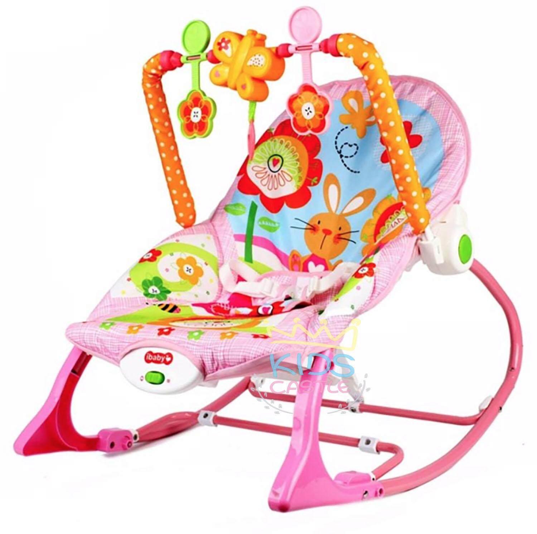 รีวิว Kids castle เปลโยกเด็ก สั่น เปลโยกเด็กระบบสั่นใช้ได้ตั้งแต่แรกเกิดถึง4ขวบ ibaby Infant-To-Toddler Rocker
