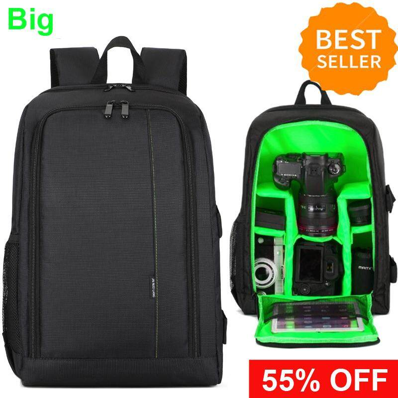 Camera Backpack, Waterproof Lightweight DSLR Camera Bag for Speedlite Flash, Tripod, Camera Lens and Accessories