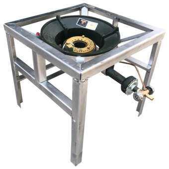 ชุดเตาแม่ค้าไฟแรง Gmax หัวเตาKB5+ขาสี่เหลี่ยมกลาง 38เซนติเมตร-