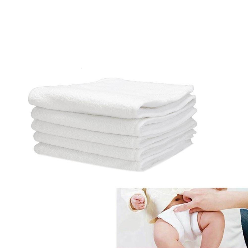 SBY 5 Pcs Washable Reuseable Baby Cloth Diapers Inserts Microfiber 3 Layers Infant Nappy