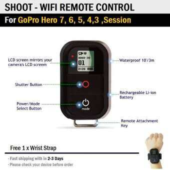 แนะนำ รีโมท ไวไฟ สำหรับ กล้อง GoPro Hero 7 Black 6 5 4 3