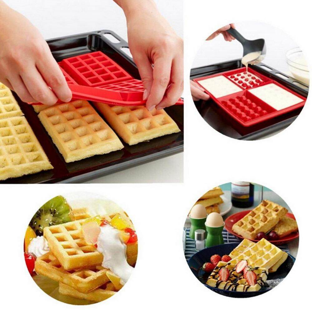 Waffle Makers for Kids Silicone Cake Mould Waffle Mould Silicone Bakeware Set Nonstick Silicone Baking Set