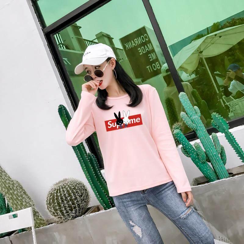 คูปอง ส่วนลด เมื่อซื้อ one step เสื้อยืดแฟชั่น ผู้หญิง คอกลม แขนยาว สกรีนลายด้านหน้า (สีชมพู) รุ่น 8364 ซื้อที่ไหน ? ถูกที่สุด