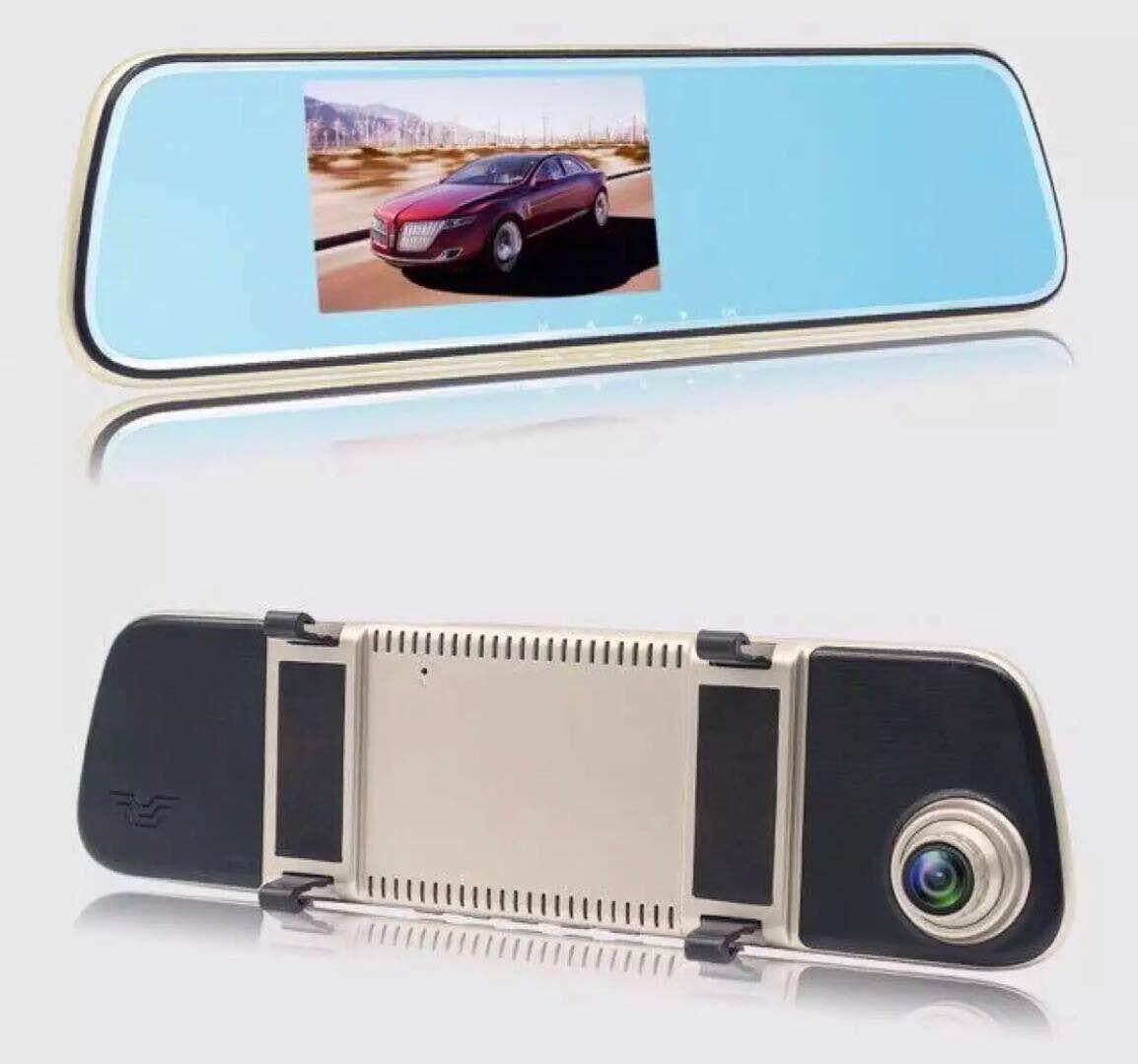 กล้องติดรถยนต์แบบกระจกมองหลังพร้อมกล้องหลัง Car driving record 908T