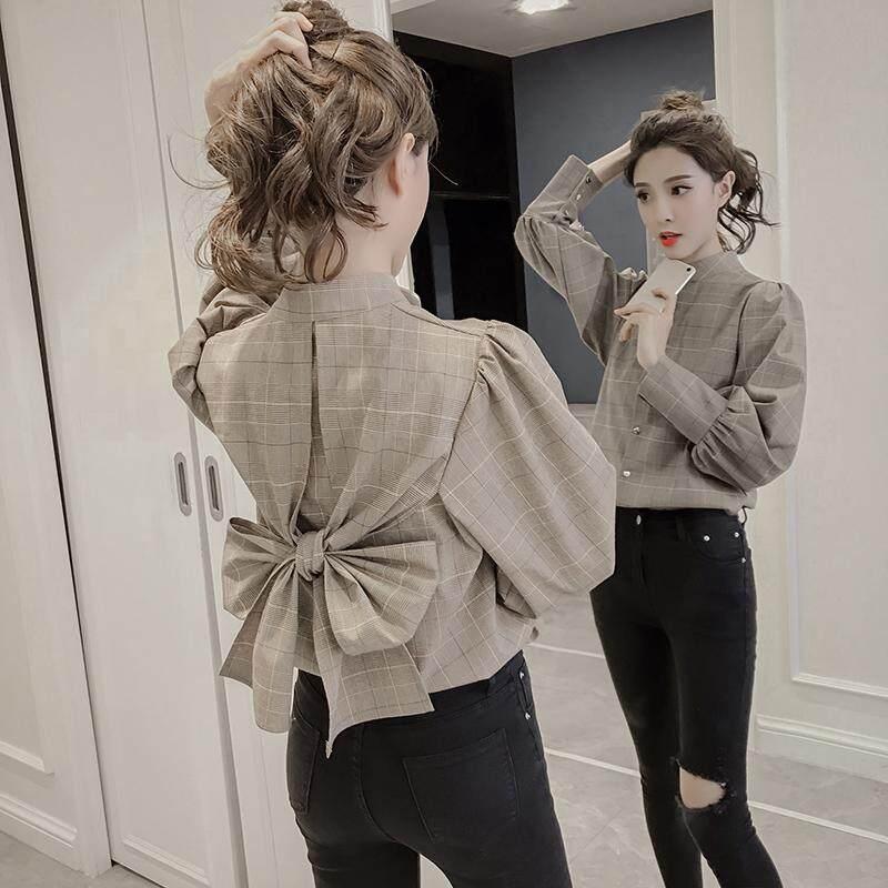 Áo kiểu nữ vải voan kèm họa tiết thời trang Hàn Quốc