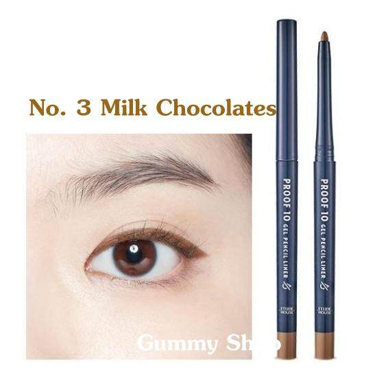 มี 4 สีให้เลือกค่ะ Etude House Proof 10 Gel Waterproof Pencil Liner _Gummy Shop