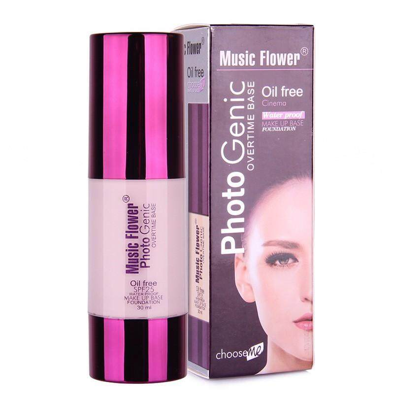 รองพื้นคุมมัน Music flower photogenic overtime foundation oil free spf 25 (30ml.) - 1 ขวด