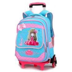 Chính Hãng Xe Đẩy SCHOOL BAG 2/Six Wheels Rời Backpack