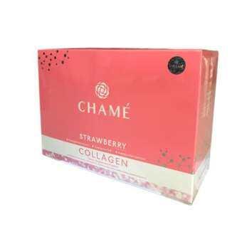 Chame' Collagen Premium Collagen White Strawberry 35000mg ชาเม่ พรีเมี่ยม คอลลาเจน ไวท์สตอเบอรี่ (30-