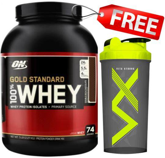 Optimum Nutrition Whey Protein Gold 5 Lbs.-Double Rich Chocolate