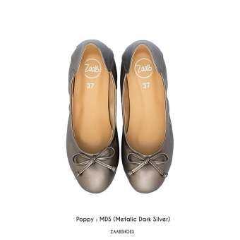 POPPY MDS (เทารมดำ) รองเท้าคัทชู รองเท้าคัชชู รองเท้าไซด์ใหญ่ รองเท้าแฟชั่น Zaab รองเท้า ผู้หญิง ส้นเตี้ย ส้นแบน  รองเท้าหน้ากว้าง เท้าใหญ่ นิ่ม หัวมน ทำงาน ไซด์ 34-44 สำหรับคน หน้าเท้ากว้าง พื้นยาง ไม่ลื่น ไม่กัด ทนทาน สินค้าพร้อมส่ง-