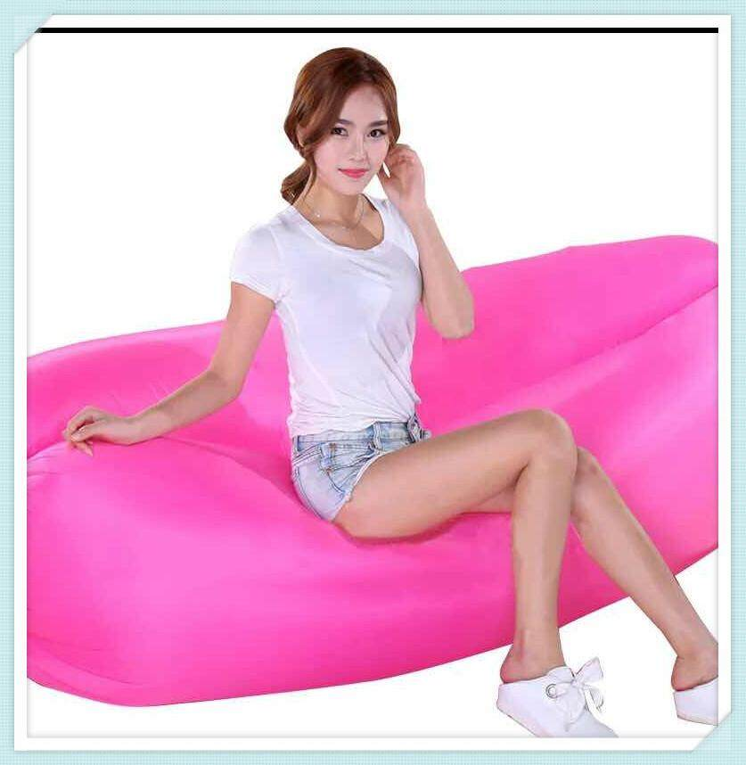 รีวิว Portable inflatable sofa?โซฟาพองแบบพกพา?Lazy bag air bed Color family : Hotpink