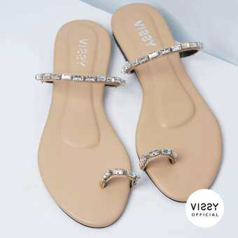 VISSY - รองเท้าแตะแบบสวมรุ่น Lina diamonds-