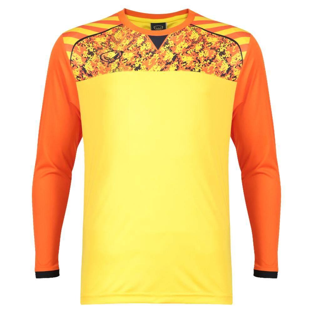Grand sport เสื้อฟุตบอลแขนยาว แกรนด์สปอร์ต (สีส้ม) รหัส: 011448