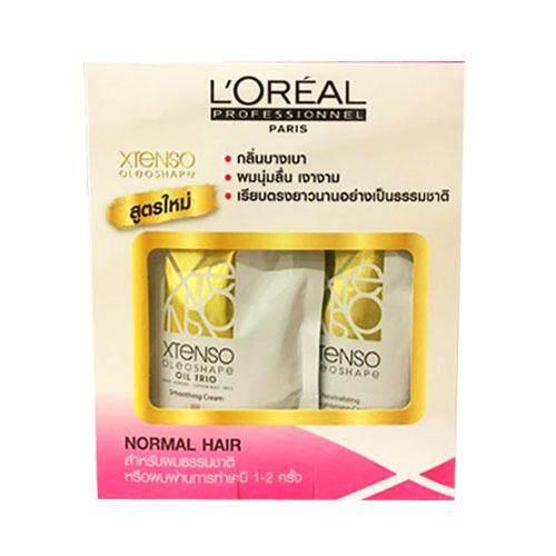 ใหม่ล่าสุด Loreal X-tenso Oleoshape Cream ลอรีอัลครีมยืดผม เอ็กซ์-เท็นโซ (สำหรับผมธรรมชาติ หรือผ่านการทำเคมี 1-2 ครั้ง) 125 ml L'Oreal