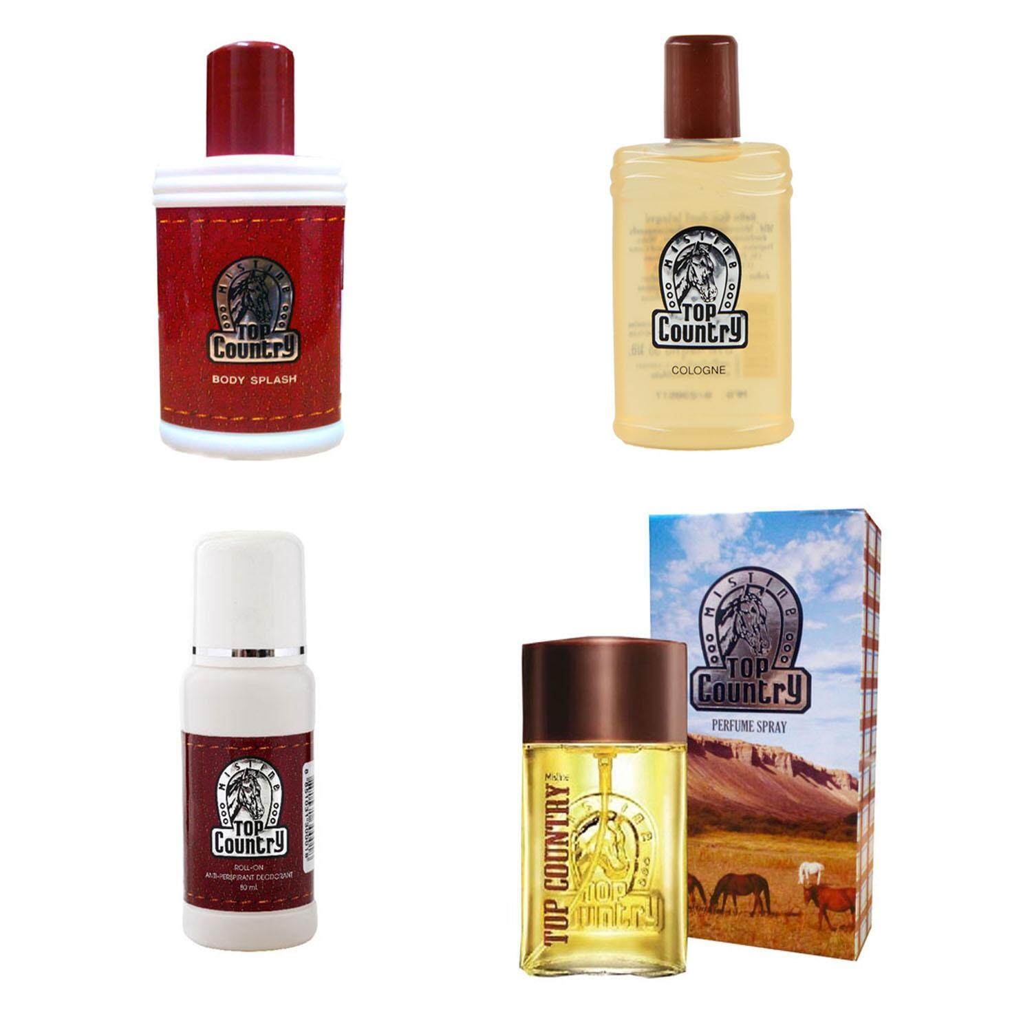Mistine Top Country Body Splash,Perfume Spray,Cologne and Roll-on มิสมีนน้ำหอม ท็อป คันทรี