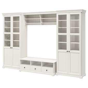 ชุดตู้ทีวี, ขาว ตู้วางทีวีและสื่อบันเทิง LIATORP-