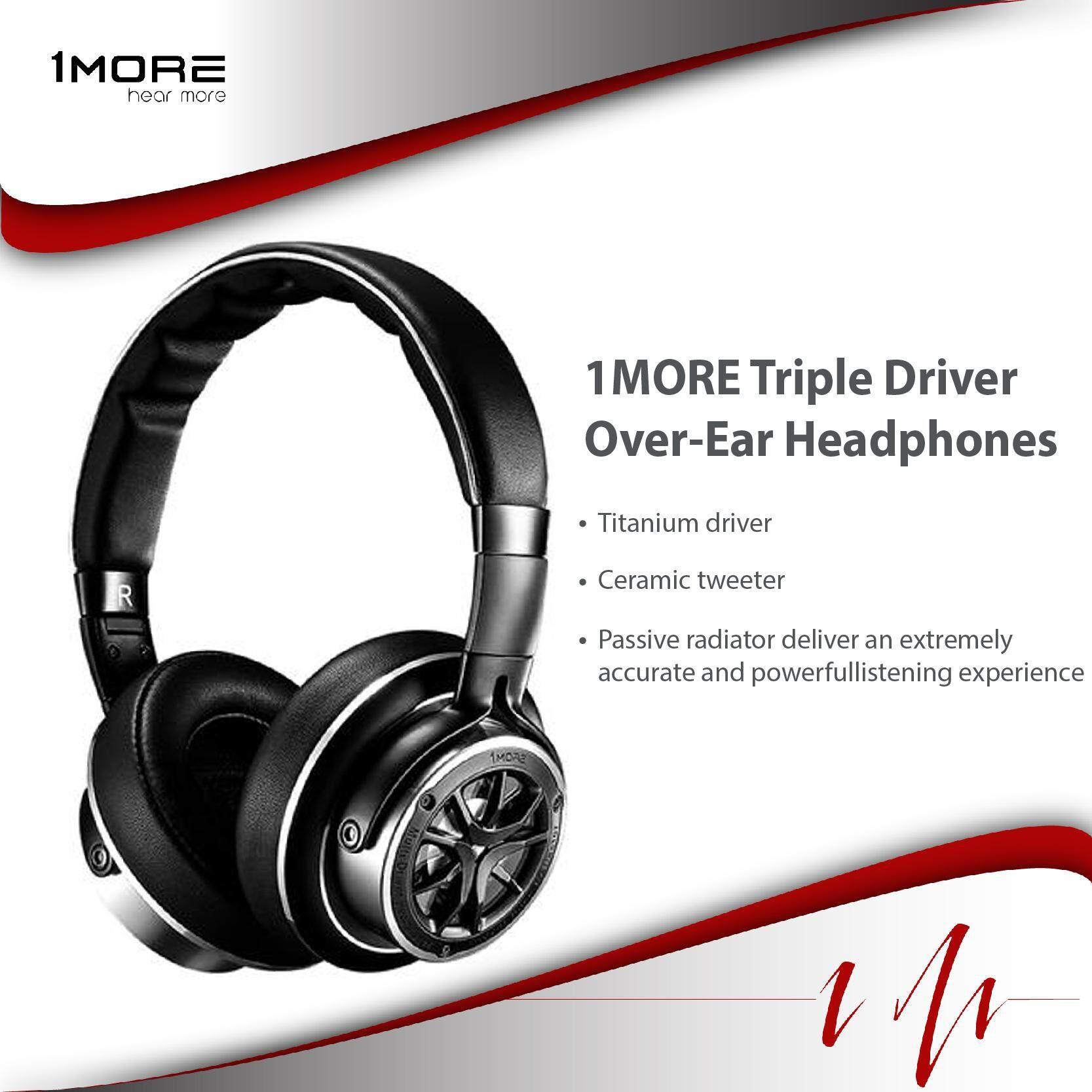 ข้อดีและข้อเสีย 1MORE Triple Driver Over - Ear Headphones (Silver) รุ่นใหม่ 2562