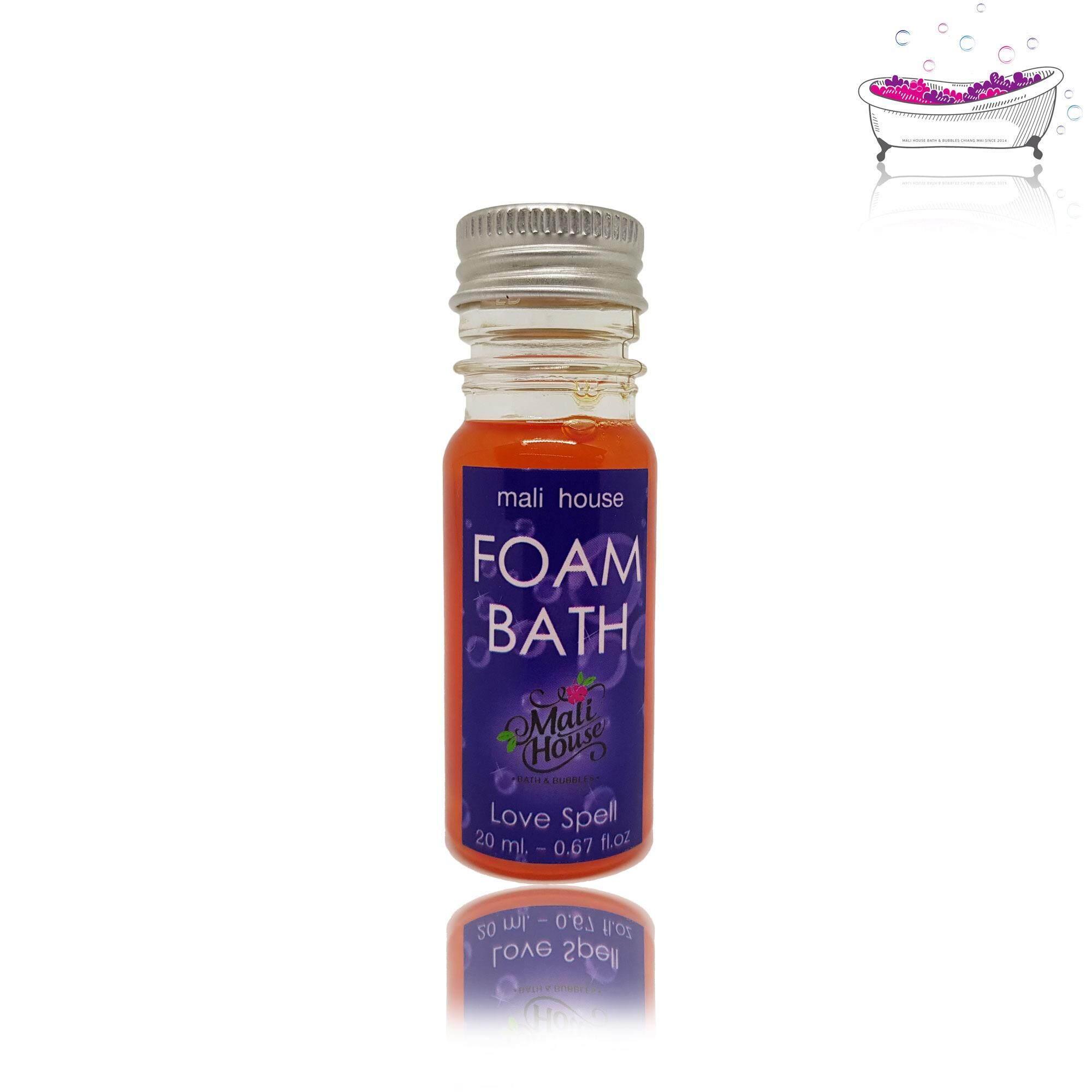 Mali House Foam bath bubble เจลสปา สบู่แช่ตัวในอ่าง กลิ่นเลิฟ สเปล Love Spell,สีแดง 20ml.