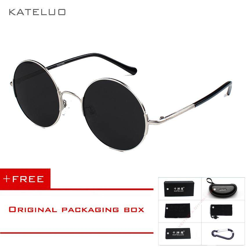 KATELUO Round Sunglasses Unisex Polarized Lens Classic Men/Women  Sun Glasses Fashion Eyewears Accessories 7758