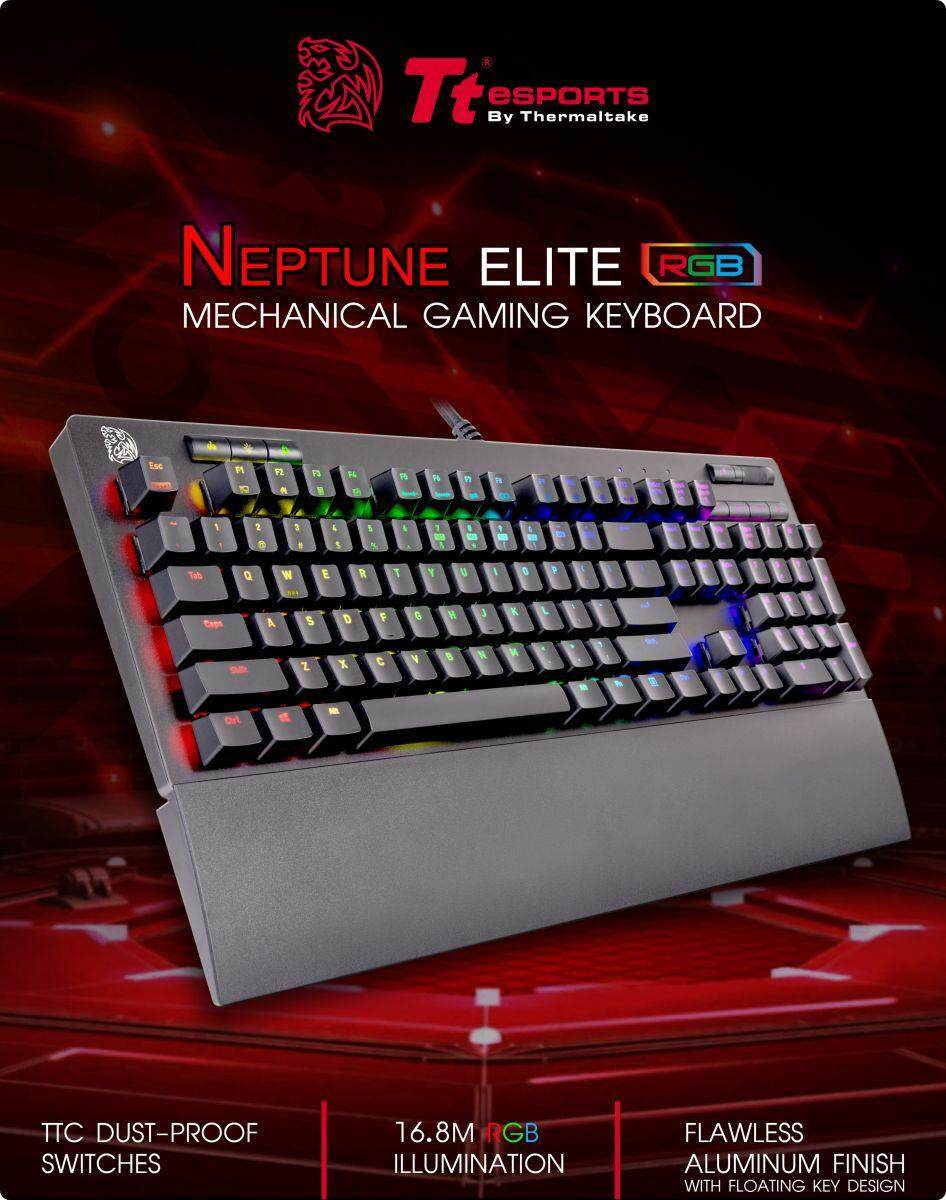 Tt eSPORTS Neptune Elite RGB Mechanical Gaming Keyboard TH/EN - Blue Switch
