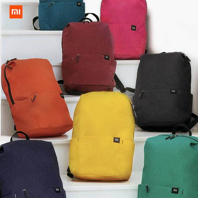 กระเป๋า Xiaomi Color Small Backpack 10L Big Capacity Anti-Water Bag Mi Many Color Lovers Couple Backpack For Student Younth Man
