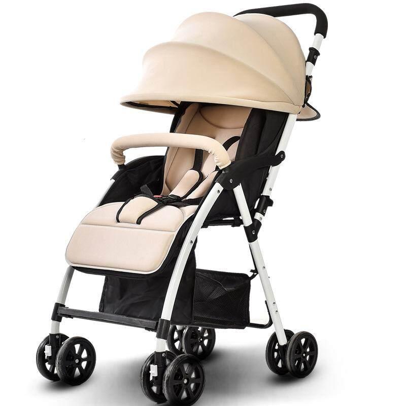 ส่งฟรี Baby รถเข็นเด็กแบบนอน baby life รถเข็นเด็กแบบใหม่รุ่นใหญ่ เข็นหน้า-หลังได้ ท่ออลูมิเนียม น้ำหนักเบา ปรับ 3 ระดับ (นั่ง/เอน/นอน) + ของเล่นเสียงดนตรี มีที่จับและที่วางของ รุ่น?JD-906 แนะนำเลยดีที่สุดแล้ว