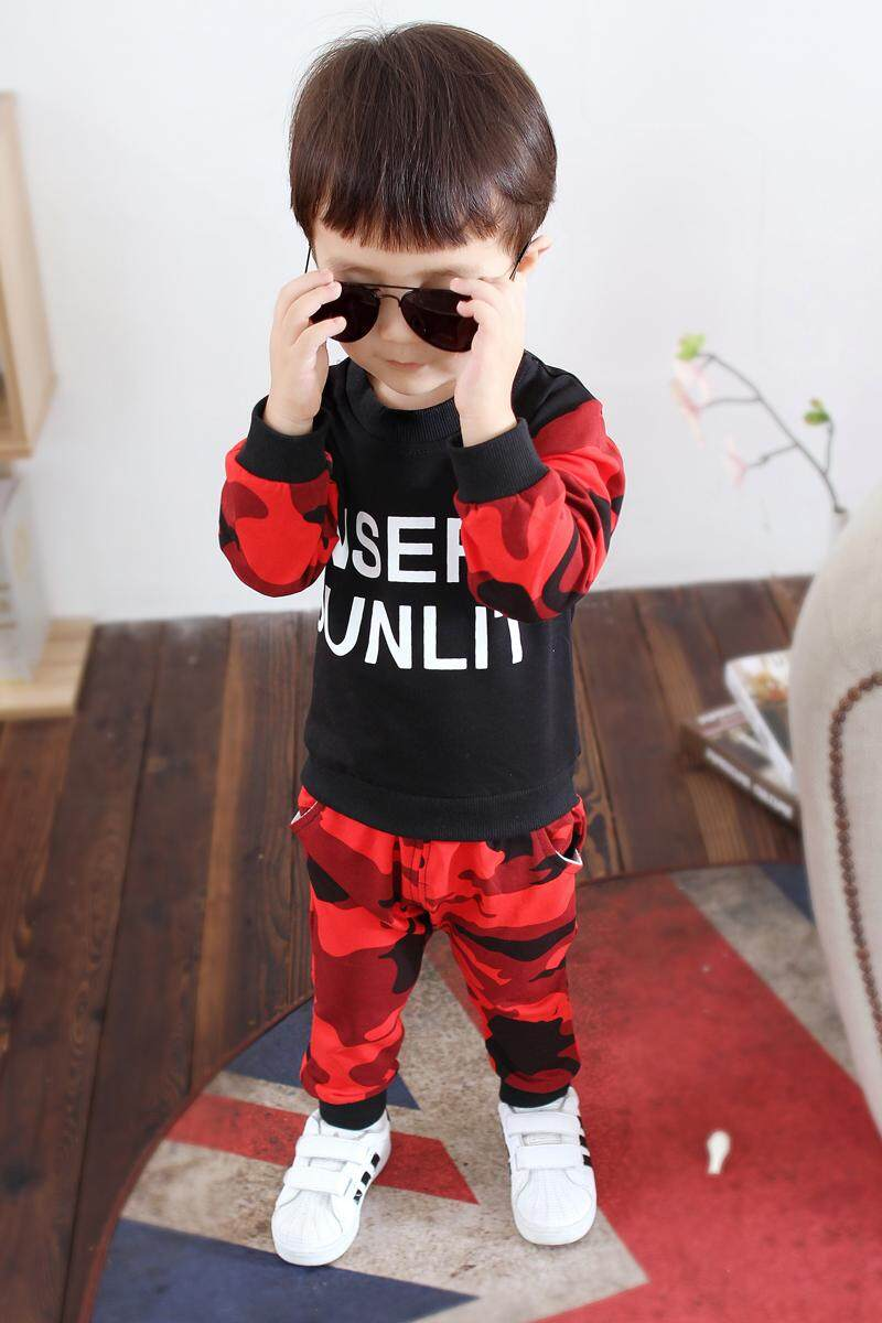 WT New Korean Children'S Sets Boy Casual Long-Sleeved Clothes
