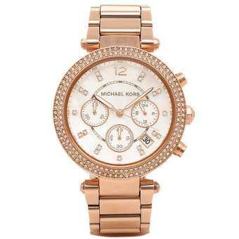 นาฬิกาผู้หญิง MICHAEL KORS Parker Chronograph Rose Gold-tone Ladies Watch MK5491