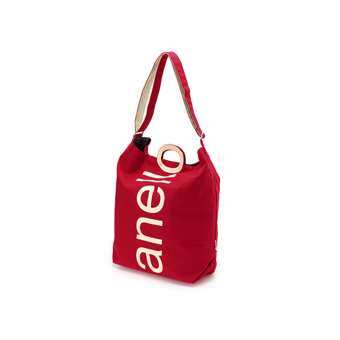 anello กระเป๋า Tote A4 Canvas Logo Print 2WAY_AU-S0061