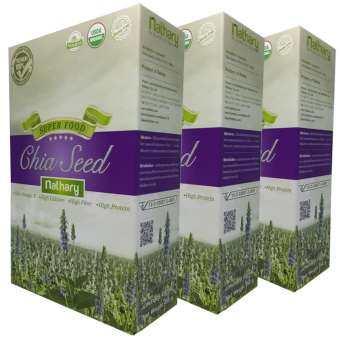 Nathary Chia Seed ผลิตภัณฑ์เสริมอาหาร เมล็ดเชีย 450 g X 3 กล่อง