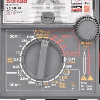 Sanwa อนาล็อก มัลติมิเตอร์ รุ่น YX360TRF **แถมฟรี! ชุดแหนบสแตนเลส 6ชิ้น  มูลค่า 170บาท!** มิเตอร์ เข็ม เครื่องวัดแรงดันและกระแสไฟฟ้า เครื่องวัดไฟ AC  DC