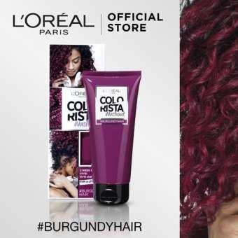 ราคา ลอรีอัล ปารีส คัลเลอร์ริสต้า วอชเอาท์ สี BURGUNDY HAIR L'OREAL PARIS COLORISTA WASHOUT BURGUNDY HAIR (Colorista, ครีมเปลี่ยนสีผมชั่วคราว, ทำสีผม, ไฮไลท์)