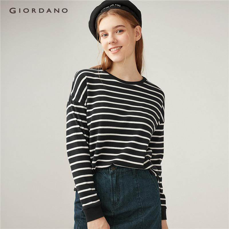 Giordano Women Thick loose striped tee [Free Shipping] 05328616