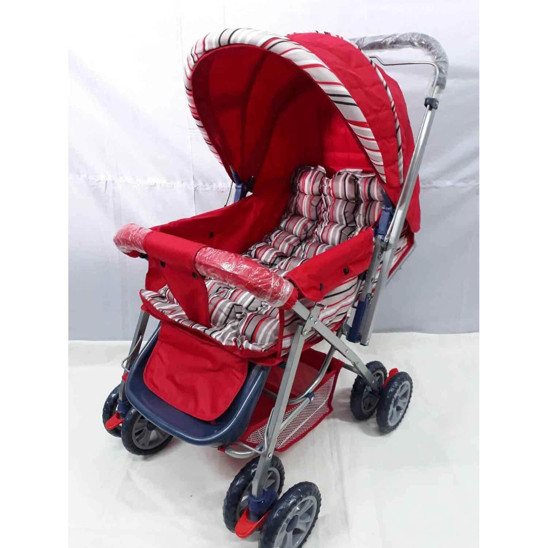 เปรียบเทียบราคา baby boo รถเข็นเด็กสามล้อ รถเข็นเด็ก 3ล้อ แบบใหม่แข็งแรง แบบพับเก็บได้ น้ำหนักเบา เบาะนิ่ม มีไฟที่ล้อ (สีขาว) ลดราคาเกินครึ่ง