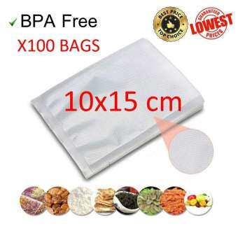 Vacuum bags ถุงซีลสุญญากาศลายนูนเเบบซอง 10*15cm เเพ้ค 100 ถุง อย่างหนา-