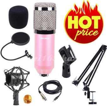 awei168thai ไมค์ ไมค์อัดเสียง คอนเดนเซอร์ Pro Condenser Mic Microphone BM800 พร้อม ขาตั้งไมค์โครโฟน และอุปกรณ์เสริม