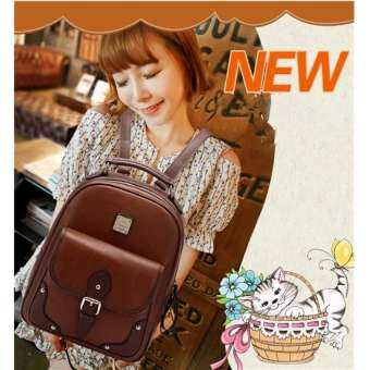 crvid shop กระเป๋า กระเป๋าเป้ กระเป๋าสะพายหลัง Backpack(Brown)