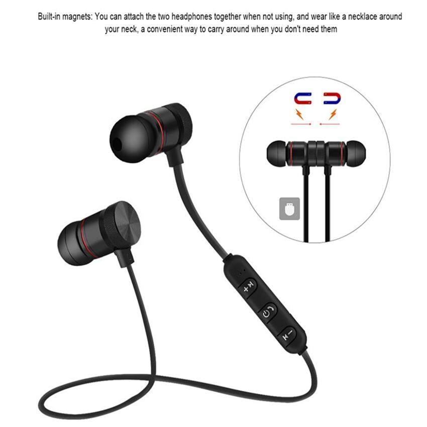 Wireless M9 Magnetic Bluetooth Headset In-Ear Noise Reduction Earphone - intl