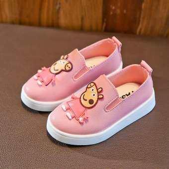 2019 ใหม่ฤดูใบไม้ผลิและฤดูใบไม้ร่วงรองเท้าเด็กผู้หญิงรองเท้าหนังรองเท้าสไตล์เจ้าหญิงเด็กรองเท้า Tods หญิงเด็กเล็ก Petpet รองเท้าส้นสูง 1-3 ปี