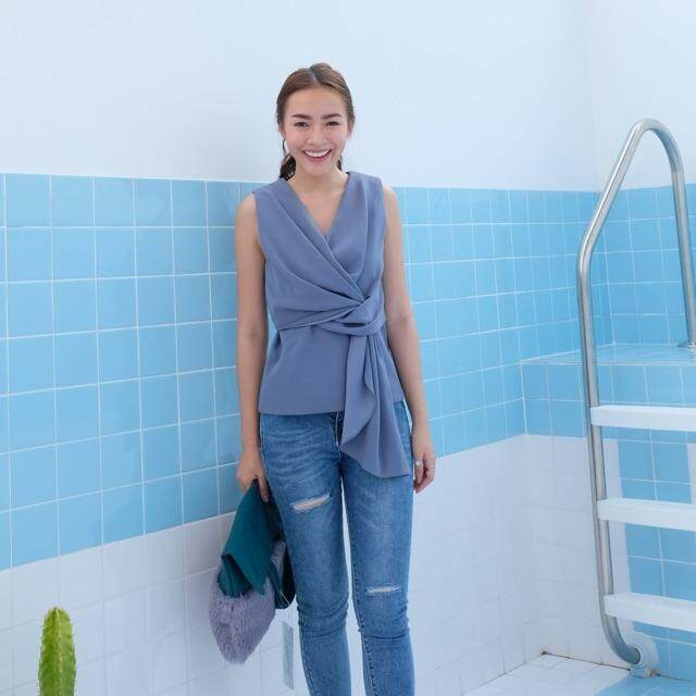 Kanni Studio - CHLOE TOP IN MIST BLUE